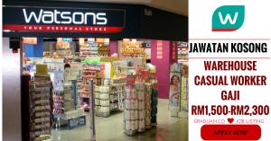 Jawatan Kosong Terkini Watson's Personal Care Stores Sdn Bhd