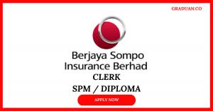 Jawatan Kosong Terkini Berjaya Sompo Insurance Berhad