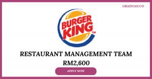 Jawatan Kosong Terkini Burgerking