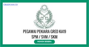 Jawatan KosongTerkini Jabatan Penjara Malaysia