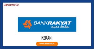 Jawatan KosongTerkini Bank Kerjasama Rakyat Malaysia Berhad