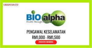 Jawatan KosongTerkini Bioalpha International Sdn Bhd