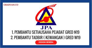 Jawatan KosongTerkini Jabatan Perkhidmatan Awam (JPA)