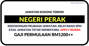 Jawatan KosongTerkini Negeri Perak