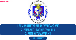 Jawatan KosongTerkini Majlis Daerah Tapah (MDT)