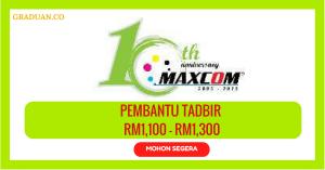 Jawatan KosongTerkini Maxcomponents Sdn Bhd