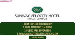 Jawatan KosongTerkini Sunway Velocity Hotel