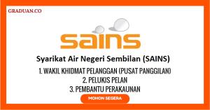 Jawatan KosongTerkini Syarikat Air Negeri Sembilan (SAINS)