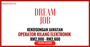 Jawatan KosongTerkini Agensi Pekerjaan Dream Job