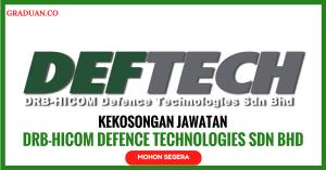 Jawatan KosongTerkini DRB-HICOM Defence Technologies Sdn Bhd