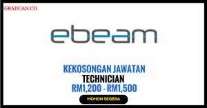 Jawatan KosongTerkini Ebeam Sdn Bhd