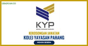 Jawatan KosongTerkini Kolej Yayasan Pahang