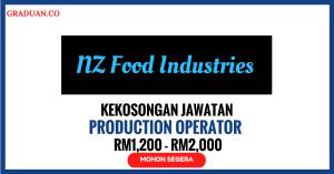 Jawatan KosongTerkini NZ Food Industries