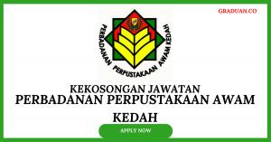 Jawatan KosongTerkini Perbadanan Perpustakaan Awam Kedah