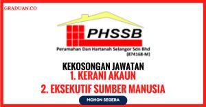 Jawatan KosongTerkini Perumahan Dan Hartanah Selangor Sdn Bhd