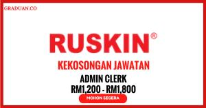 Jawatan KosongTerkini Ruskin (M) Sdn Bhd