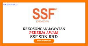 Jawatan KosongTerkini SSF Sdn Bhd