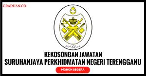 Jawatan KosongTerkini Suruhanjaya Perkhidmatan Negeri Terengganu