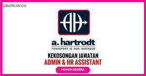 Jawatan KosongTerkini a. Hartrodt Malaysia Sdn Bhd