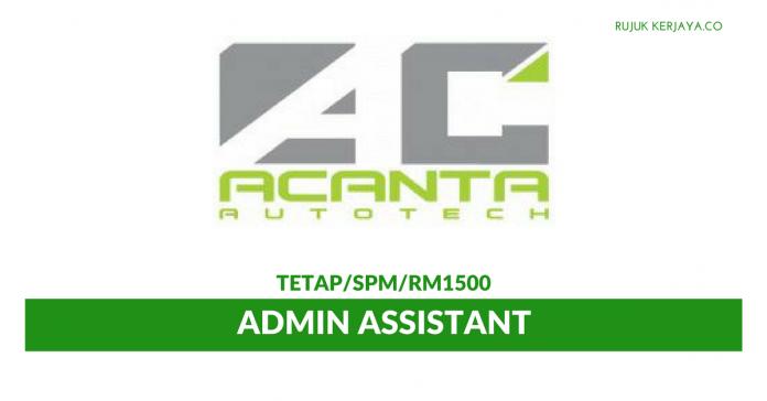 Admin Assistant Di Acanta Autotech