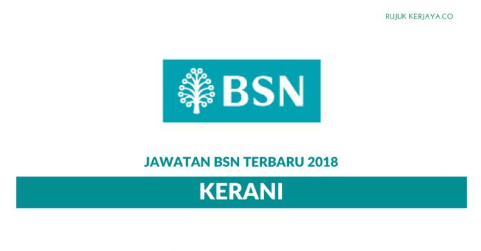 Jawatan Kosong Baru Kerani Bank Simpanan Nasional (BSN)