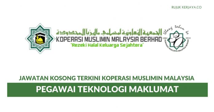 Koperasi Muslimin Malaysia ~ Pegawai Teknologi Maklumat