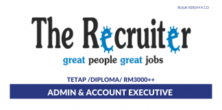 The Recruiter ~ Admin & Accounts Executive