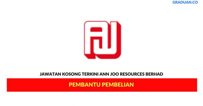 Permohonan Jawatan Kosong Terkini Ann Joo Resources Berhad