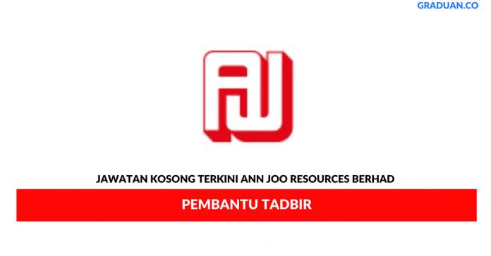 Permohonan Jawatan Kosong Terkini Ann Joo Resources Berhad.