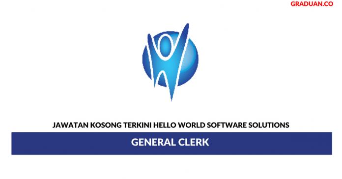 Permohonan Jawatan Kosong Terkini Hello World Software Solutions