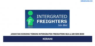 Permohonan Jawatan Kosong Terkini Intergrated Freighters Sea & Air Sdn Bhd