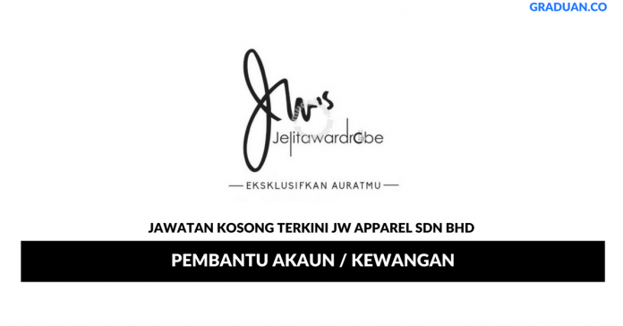 Permohonan Jawatan Kosong Terkini JW Apparel Sdn Bhd
