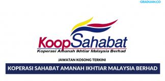 Permohonan Jawatan Kosong Terkini Koperasi Sahabat Amanah Ikhtiar Malaysia Berhad