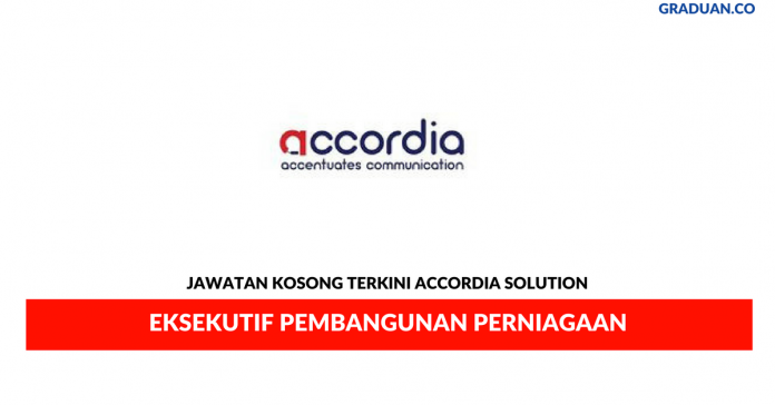 Permohonan Jawatan Kosong Terkini Accordia Solution
