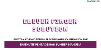 Permohonan Jawatan Kosong Terkini Eleven Finger Solution Sdn Bhd