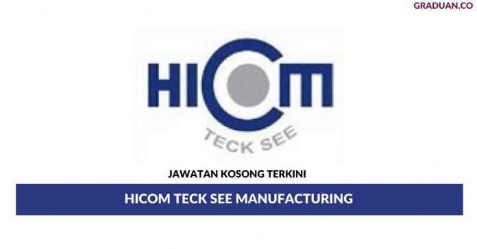 Permohonan Jawatan Kosong Terkini Hicom Teck See Manufacturing