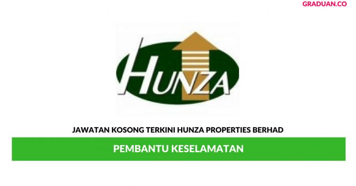 Permohonan Jawatan Kosong Terkini Hunza Properties Berhad