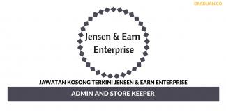Permohonan Jawatan Kosong Terkini Jensen & Earn Enterprise