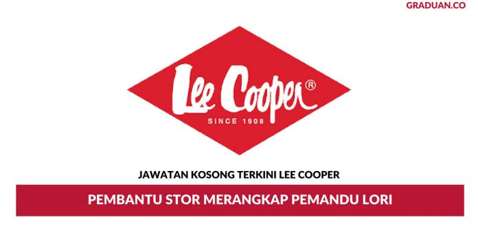 Permohonan Jawatan Kosong Terkini Lee Cooper