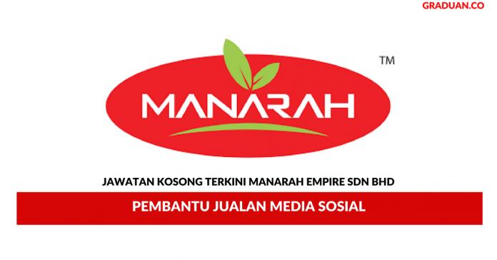 Permohonan Jawatan Kosong Terkini Manarah Empire Sdn Bhd