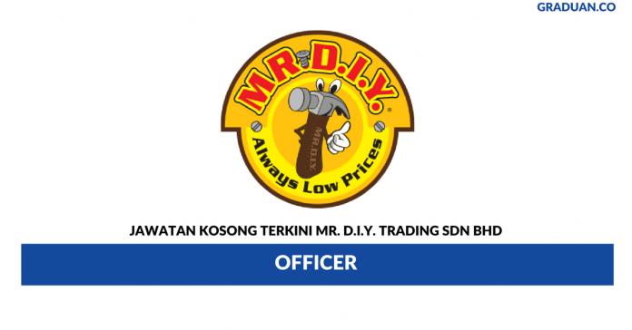 Permohonan Jawatan Kosong Terkini Mr. D.I.Y. Trading Sdn Bhd