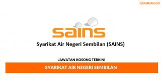 Permohonan Jawatan Kosong Terkini Syarikat Air Negeri Sembilan (SAINS)