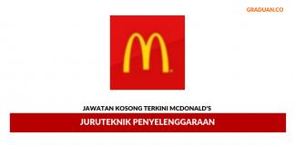Permohonan Jawatan Kosong Terkini McDonald's