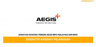 Permohonan Jawatan Kosong Terkini Aegis BPO Malaysia