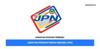 Permohonan Jawatan Kosong Terkini Jabatan Pendaftaran Negara (JPN)