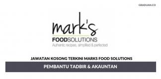 Permohonan Jawatan Kosong Terkini Marks Food Solutions