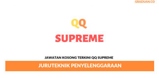 Permohonan Jawatan Kosong Terkini QQ Supreme