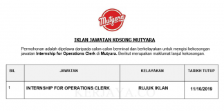 Mutyara _ Internship for Operations Clerk