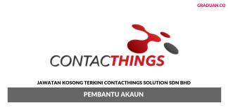 Permohonan Jawatan Kosong Terkini Contacthings Solution