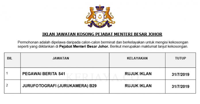 Pejabat Menteri Besar Johor